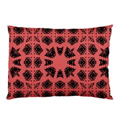 Digital Computer Graphic Seamless Patterned Ornament In A Red Colors For Design Pillow Case by Simbadda