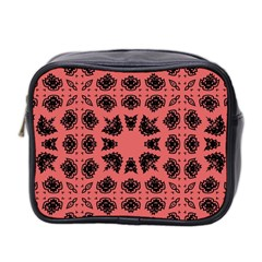 Digital Computer Graphic Seamless Patterned Ornament In A Red Colors For Design Mini Toiletries Bag 2 Side by Simbadda