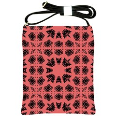Digital Computer Graphic Seamless Patterned Ornament In A Red Colors For Design Shoulder Sling Bags by Simbadda