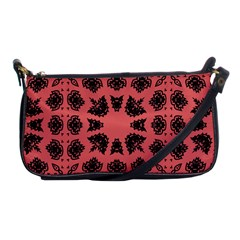 Digital Computer Graphic Seamless Patterned Ornament In A Red Colors For Design Shoulder Clutch Bags by Simbadda