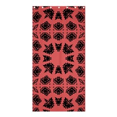 Digital Computer Graphic Seamless Patterned Ornament In A Red Colors For Design Shower Curtain 36  X 72  (stall)  by Simbadda
