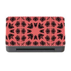 Digital Computer Graphic Seamless Patterned Ornament In A Red Colors For Design Memory Card Reader With Cf by Simbadda