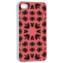 Digital Computer Graphic Seamless Patterned Ornament In A Red Colors For Design Apple Iphone 4/4s Seamless Case (white) by Simbadda