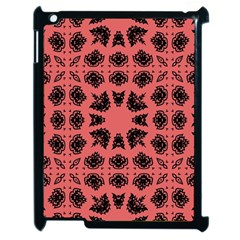 Digital Computer Graphic Seamless Patterned Ornament In A Red Colors For Design Apple Ipad 2 Case (black) by Simbadda