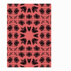 Digital Computer Graphic Seamless Patterned Ornament In A Red Colors For Design Small Garden Flag (two Sides) by Simbadda