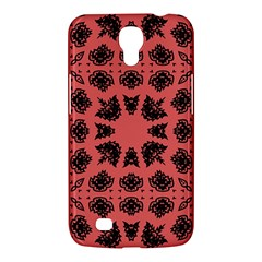 Digital Computer Graphic Seamless Patterned Ornament In A Red Colors For Design Samsung Galaxy Mega 6 3  I9200 Hardshell Case by Simbadda