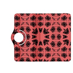 Digital Computer Graphic Seamless Patterned Ornament In A Red Colors For Design Kindle Fire Hdx 8 9  Flip 360 Case by Simbadda
