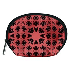 Digital Computer Graphic Seamless Patterned Ornament In A Red Colors For Design Accessory Pouches (medium)  by Simbadda