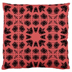 Digital Computer Graphic Seamless Patterned Ornament In A Red Colors For Design Large Flano Cushion Case (one Side) by Simbadda