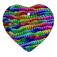 Digitally Created Abstract Rainbow Background Pattern Ornament (heart) by Simbadda