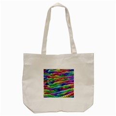 Digitally Created Abstract Rainbow Background Pattern Tote Bag (cream) by Simbadda