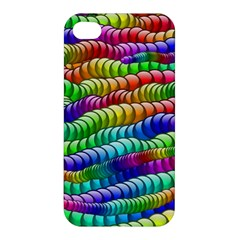 Digitally Created Abstract Rainbow Background Pattern Apple Iphone 4/4s Hardshell Case by Simbadda
