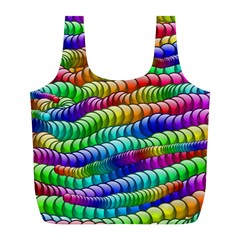 Digitally Created Abstract Rainbow Background Pattern Full Print Recycle Bags (l)  by Simbadda