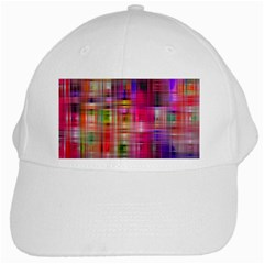 Background Abstract Weave Of Tightly Woven Colors White Cap by Simbadda