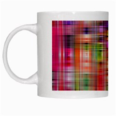 Background Abstract Weave Of Tightly Woven Colors White Mugs by Simbadda