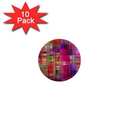 Background Abstract Weave Of Tightly Woven Colors 1  Mini Magnet (10 pack)  by Simbadda