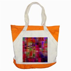 Background Abstract Weave Of Tightly Woven Colors Accent Tote Bag by Simbadda