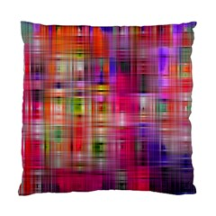 Background Abstract Weave Of Tightly Woven Colors Standard Cushion Case (one Side) by Simbadda