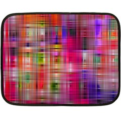 Background Abstract Weave Of Tightly Woven Colors Fleece Blanket (mini) by Simbadda