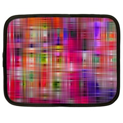 Background Abstract Weave Of Tightly Woven Colors Netbook Case (xxl)  by Simbadda