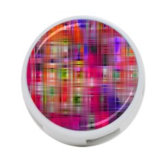 Background Abstract Weave Of Tightly Woven Colors 4-Port USB Hub (One Side) by Simbadda