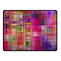 Background Abstract Weave Of Tightly Woven Colors Fleece Blanket (small) by Simbadda