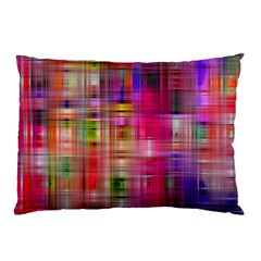 Background Abstract Weave Of Tightly Woven Colors Pillow Case (two Sides) by Simbadda