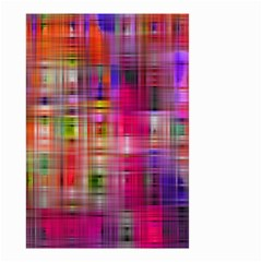 Background Abstract Weave Of Tightly Woven Colors Small Garden Flag (two Sides) by Simbadda