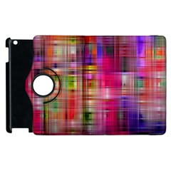 Background Abstract Weave Of Tightly Woven Colors Apple Ipad 2 Flip 360 Case by Simbadda