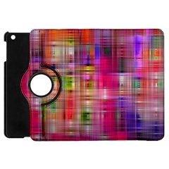 Background Abstract Weave Of Tightly Woven Colors Apple Ipad Mini Flip 360 Case by Simbadda
