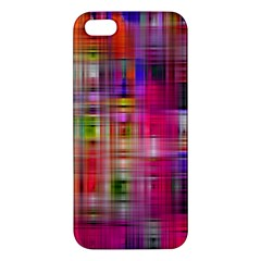 Background Abstract Weave Of Tightly Woven Colors Apple Iphone 5 Premium Hardshell Case by Simbadda