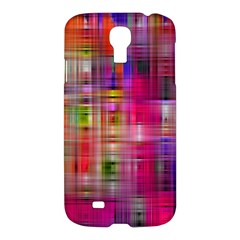 Background Abstract Weave Of Tightly Woven Colors Samsung Galaxy S4 I9500/i9505 Hardshell Case by Simbadda