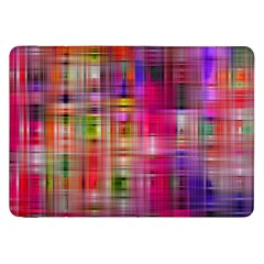 Background Abstract Weave Of Tightly Woven Colors Samsung Galaxy Tab 8.9  P7300 Flip Case