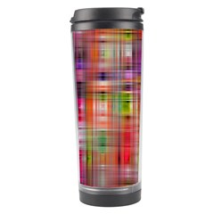 Background Abstract Weave Of Tightly Woven Colors Travel Tumbler by Simbadda