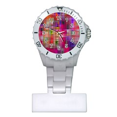 Background Abstract Weave Of Tightly Woven Colors Plastic Nurses Watch by Simbadda