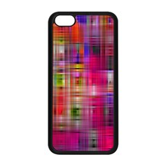 Background Abstract Weave Of Tightly Woven Colors Apple Iphone 5c Seamless Case (black) by Simbadda