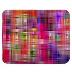 Background Abstract Weave Of Tightly Woven Colors Double Sided Flano Blanket (medium)  by Simbadda