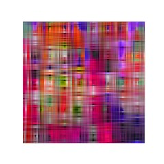 Background Abstract Weave Of Tightly Woven Colors Small Satin Scarf (square) by Simbadda