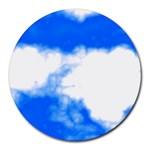 Blue Cloud Round Mousepad