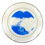 Blue Cloud Porcelain Plate