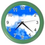 Blue Cloud Color Wall Clock