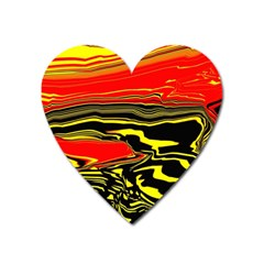 Abstract Clutter Heart Magnet by Simbadda