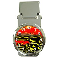 Abstract Clutter Money Clip Watches by Simbadda