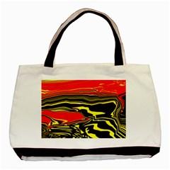 Abstract Clutter Basic Tote Bag by Simbadda