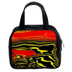 Abstract Clutter Classic Handbags (2 Sides) by Simbadda