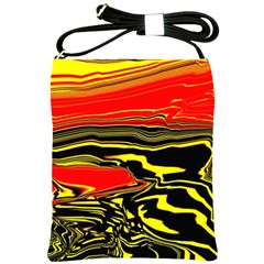 Abstract Clutter Shoulder Sling Bags by Simbadda