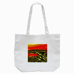 Abstract Clutter Tote Bag (white) by Simbadda