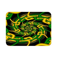 Green Yellow Fractal Vortex In 3d Glass Double Sided Flano Blanket (mini)  by Simbadda