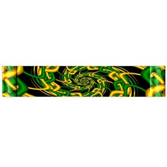 Green Yellow Fractal Vortex In 3d Glass Flano Scarf (large) by Simbadda