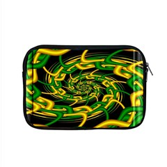 Green Yellow Fractal Vortex In 3d Glass Apple Macbook Pro 15  Zipper Case by Simbadda